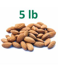 Unpasteurized Almonds - 5 Pounds - Fast Shipping
