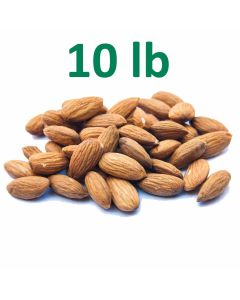 Unpasteurized Almonds - 10 Pounds at $6.60/lb - Fast Shipping
