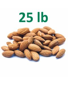 Unpasteurized Almonds - 25 Pounds at $6.60/lb & Fast Shipping