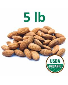 Organic Unpasteurized Almonds - 5 Pounds - Fast Shipping